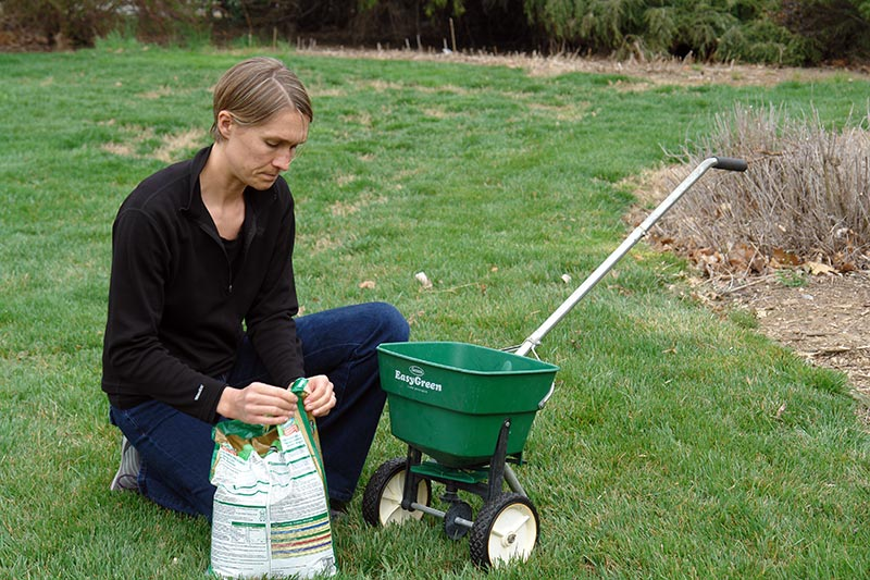 Follow the directions when fertilizing your lawn.